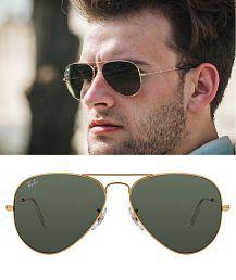 Ray Ban Sunglasses Black Aviator Sunglasses ( rb 3025-56-14 )