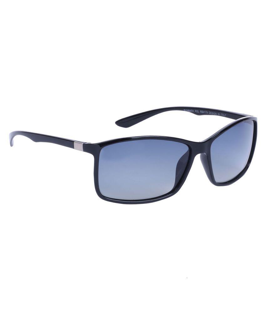 Hawai Blue Rectangle Sunglasses ( EWM00351 )