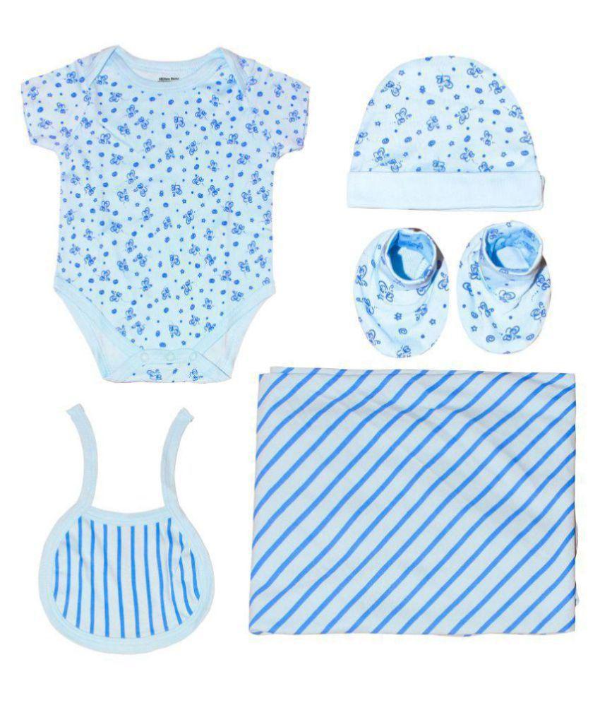 Kothari Blue Cotton Baby Gift Set - Set of 5
