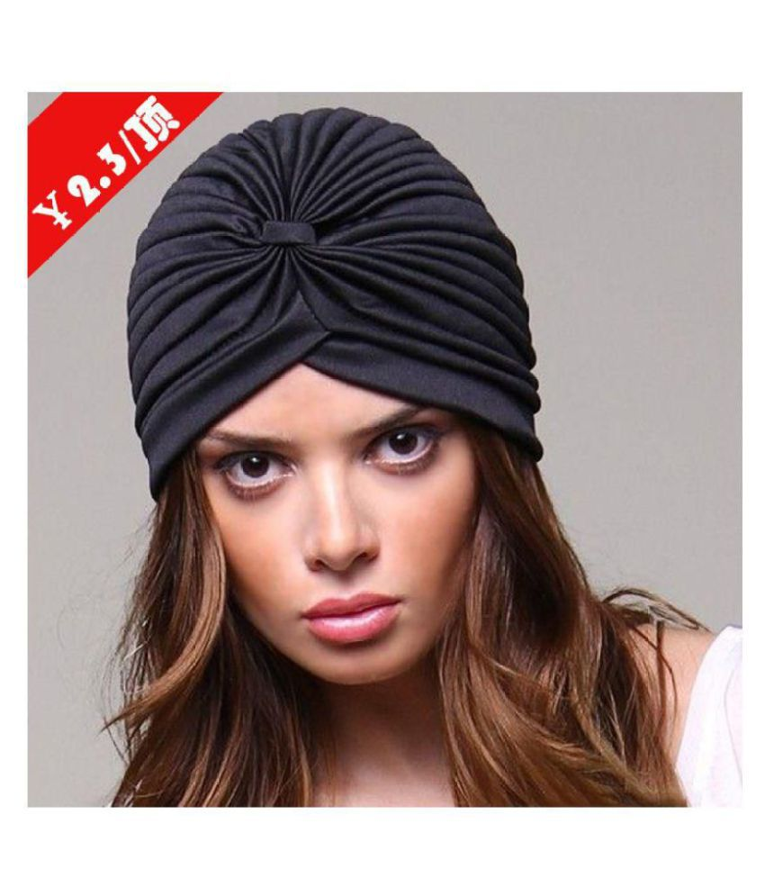 6f022bf8a832d Women India Hat Muslim Ruffle Cancer Chemo Hat Beanie Scarf Turban Head  Wrap Cap  Buy Online at Low Price in India - Snapdeal