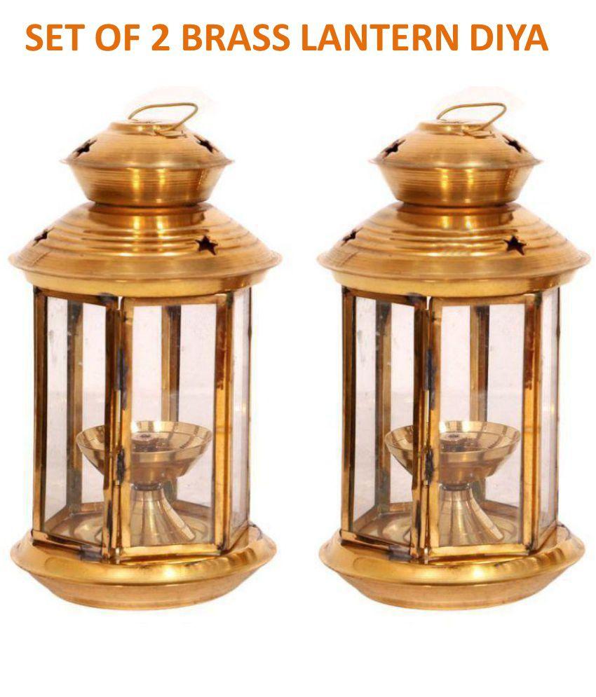 Frestol Brass Lantern Akhand Diya - Set of 2