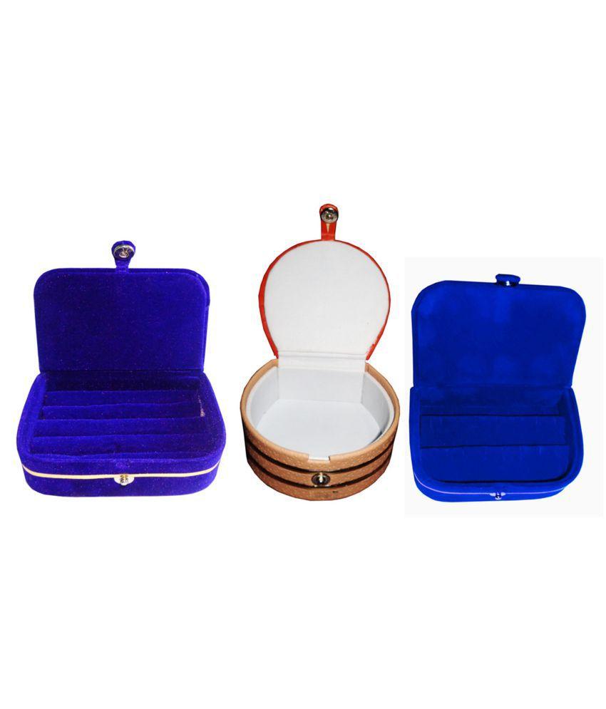 Combo 1 pc blue ring box 1 pc blue ear ring box  and 1 pc bangle box