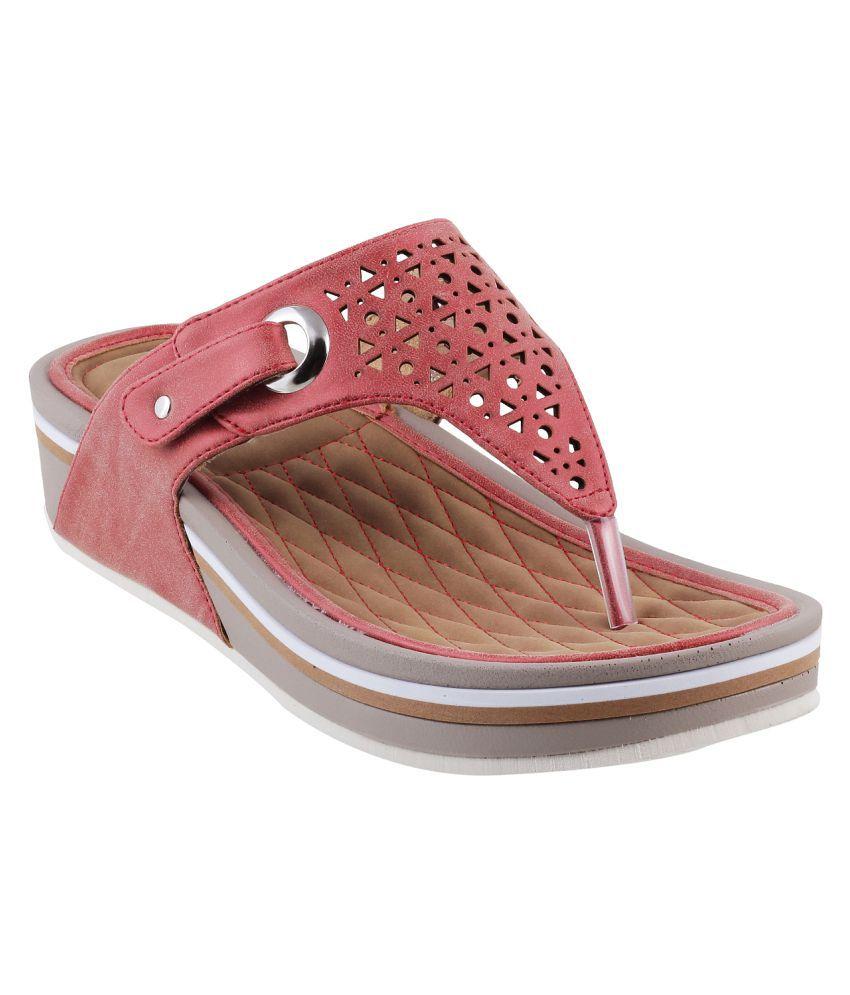 MOCHI RED Wedges Heels