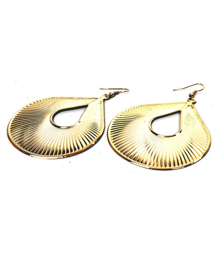 Her Rang Women Brass Gold Plated Earrings