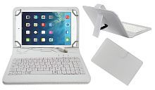 Acm Usb Keyboard Case for Apple Ipad Mini 4 Tablet Cover Stand - White