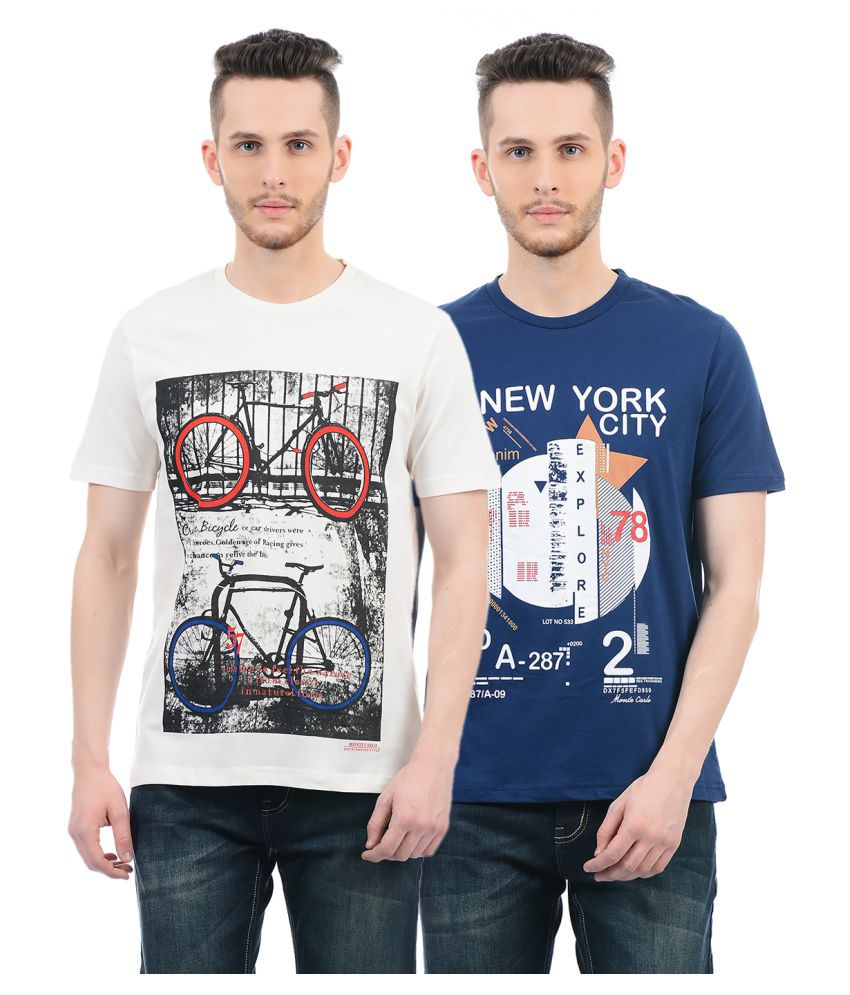 Monte Carlo Multi Round T-Shirt Pack of 2