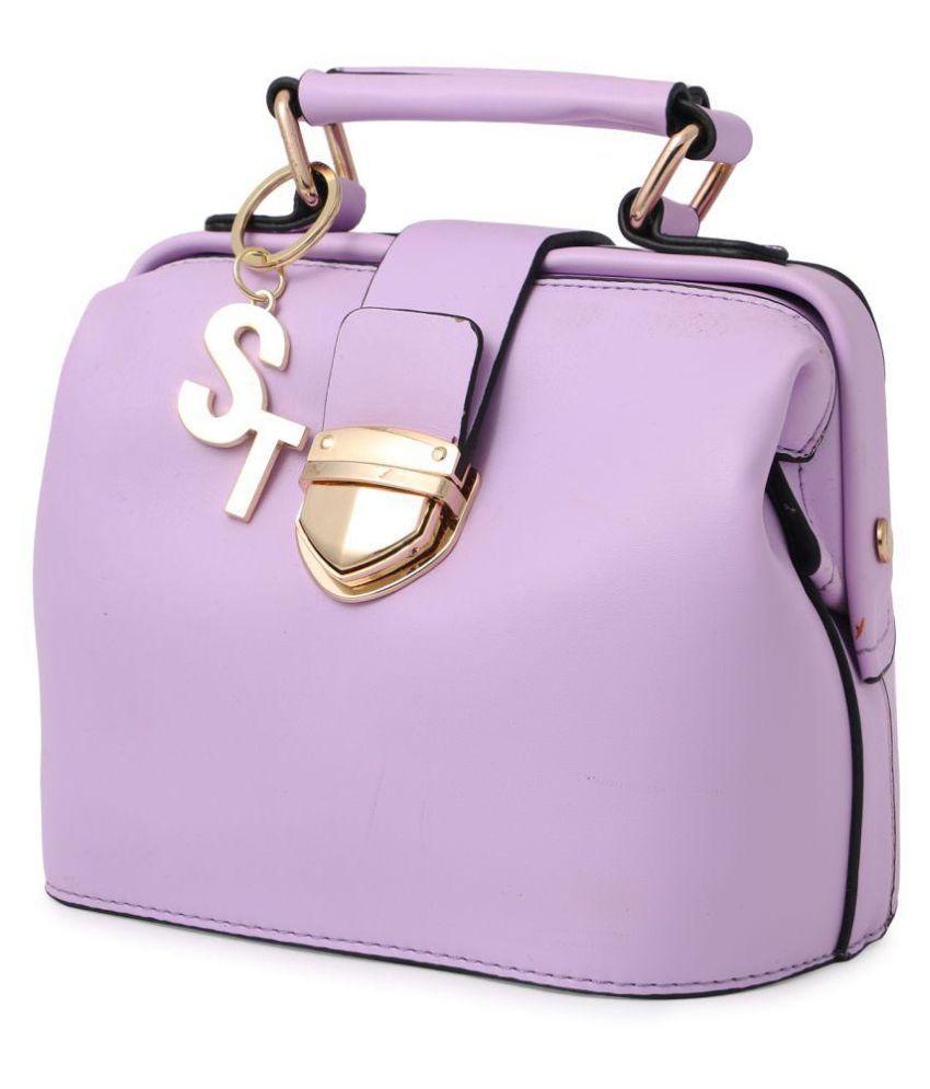 Stylicon Purple Faux Leather Shoulder Bag