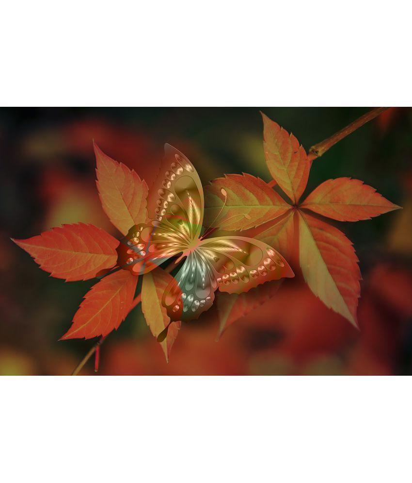 Avikalp Arrangement Plant Vascular Petal Tree Leaf Paper Wall Poster Without Frame