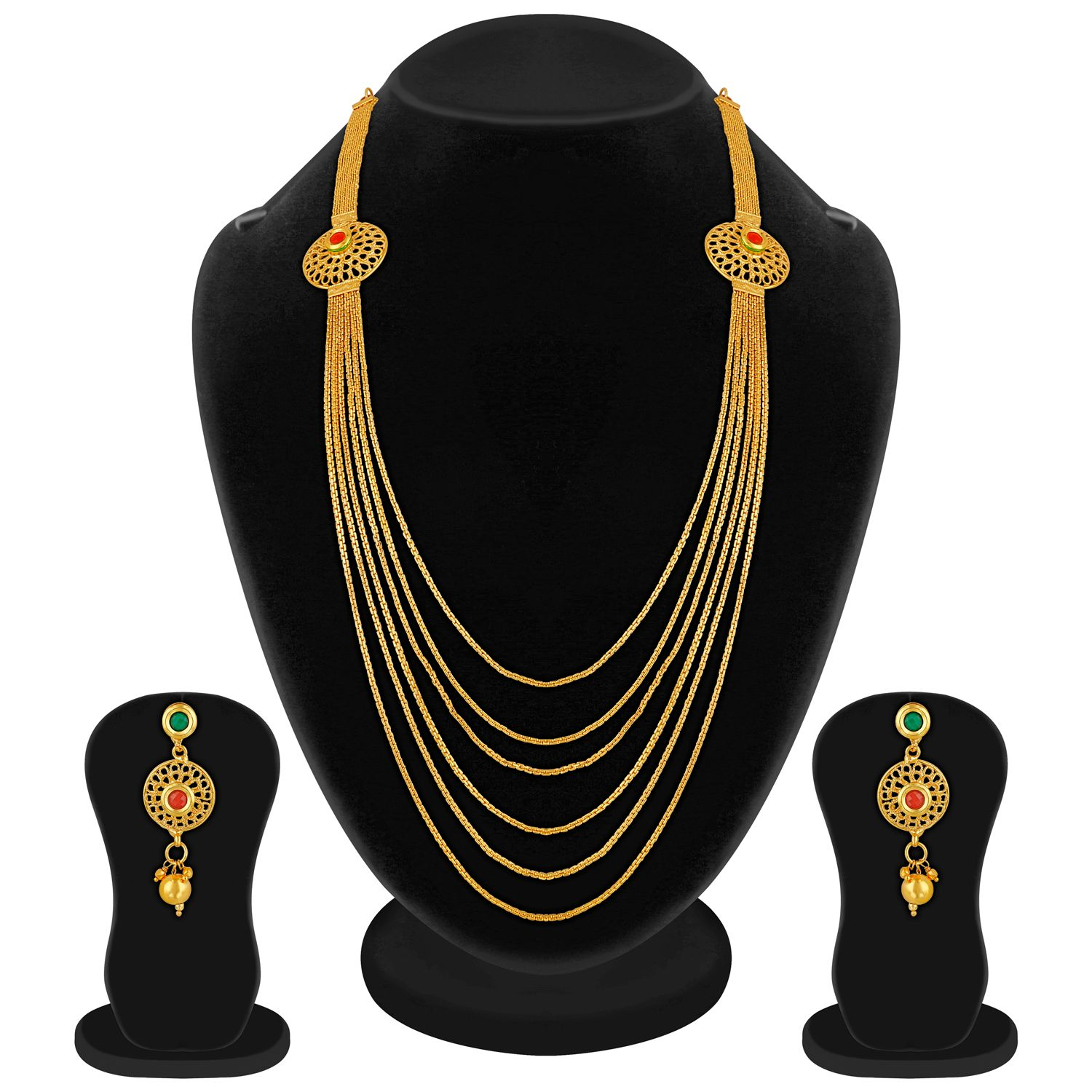 Apara South Indian Gold Plated Jewellery Set for Women