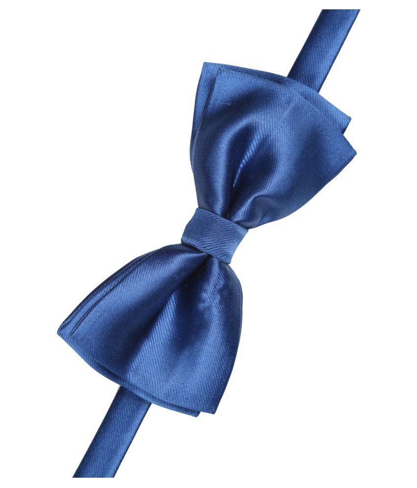 Tossido Blue Plain Micro Fiber Necktie