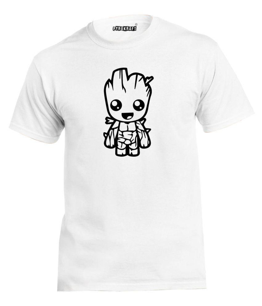 Pyrokraft White Round T-Shirt
