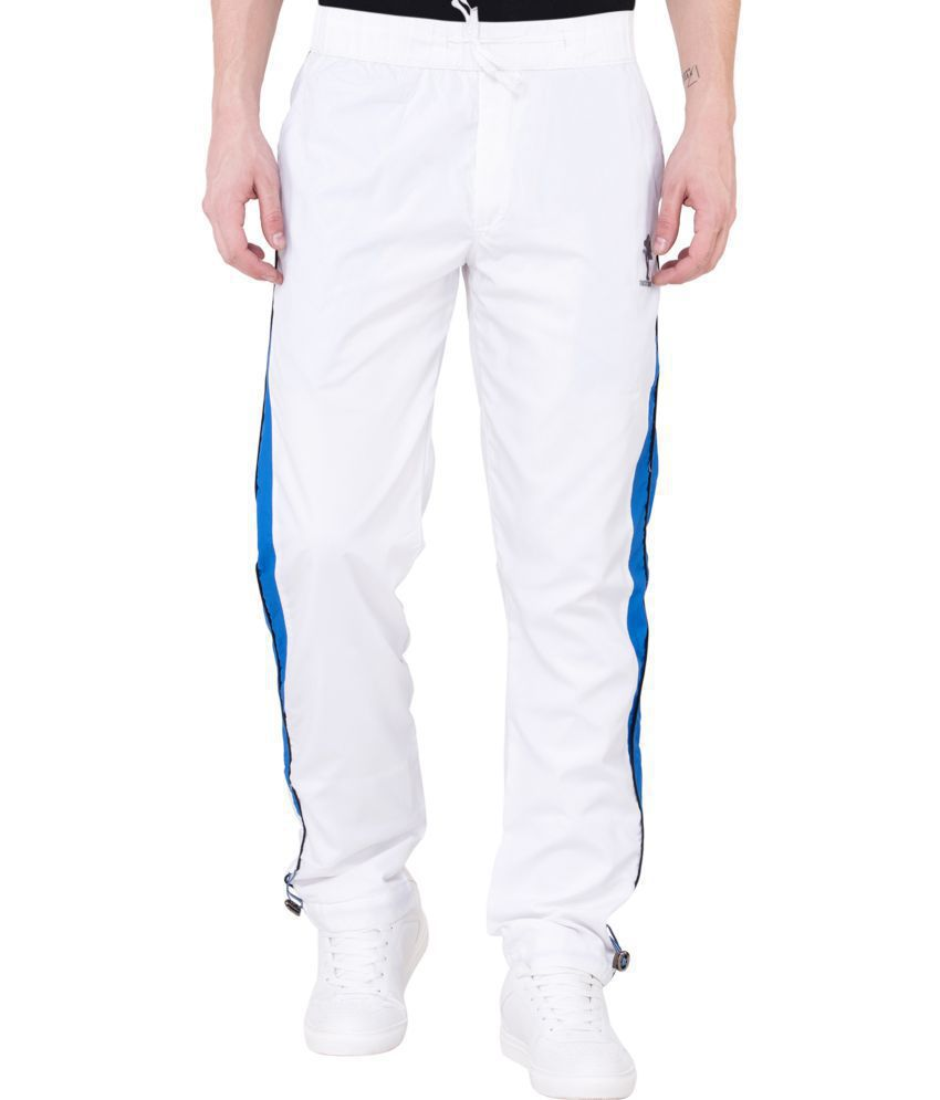 latest sale excellent quality clients first JTInternational White Cotton Trackpants Single