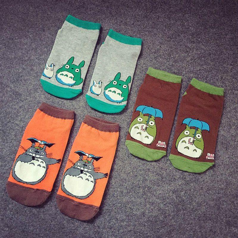 Totoro Fashion Socks Comfortable Sweet Cotton Socks Female Totoro Breathable Shallow Mouth Socks Cute Stockings Socks