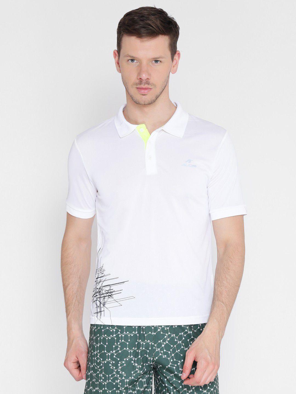 Alcis Mens Printed White Polo T-Shirt