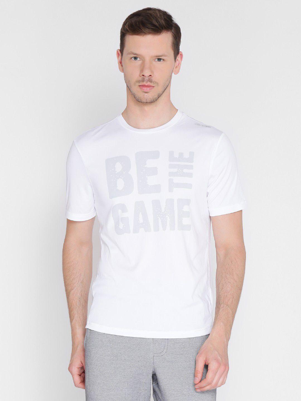 Alcis Mens Printed White Running T-Shirt