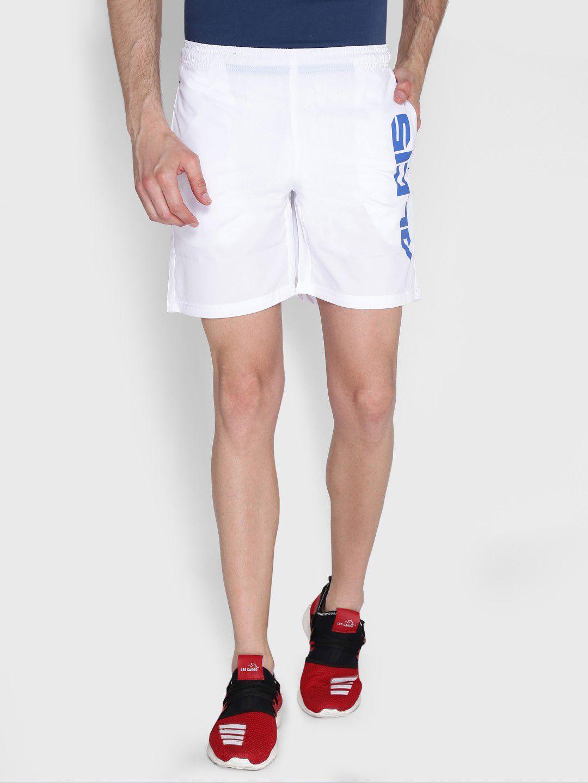 Alcis Mens Printed White Shorts