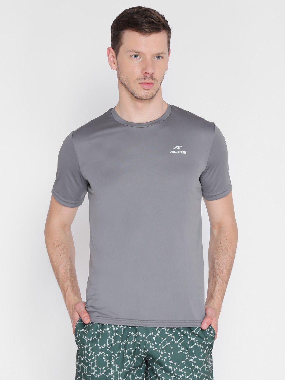 Alcis Mens Solid Grey T-Shirt