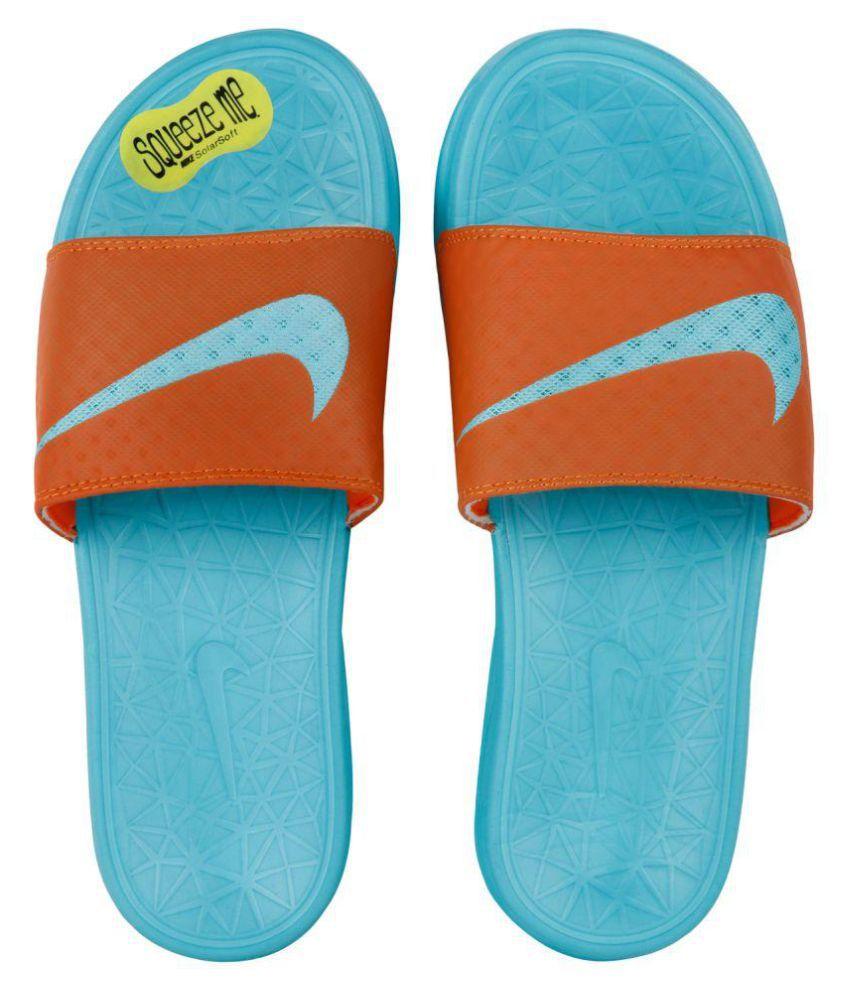 Nike solarsoft Blue Slide Flip flop