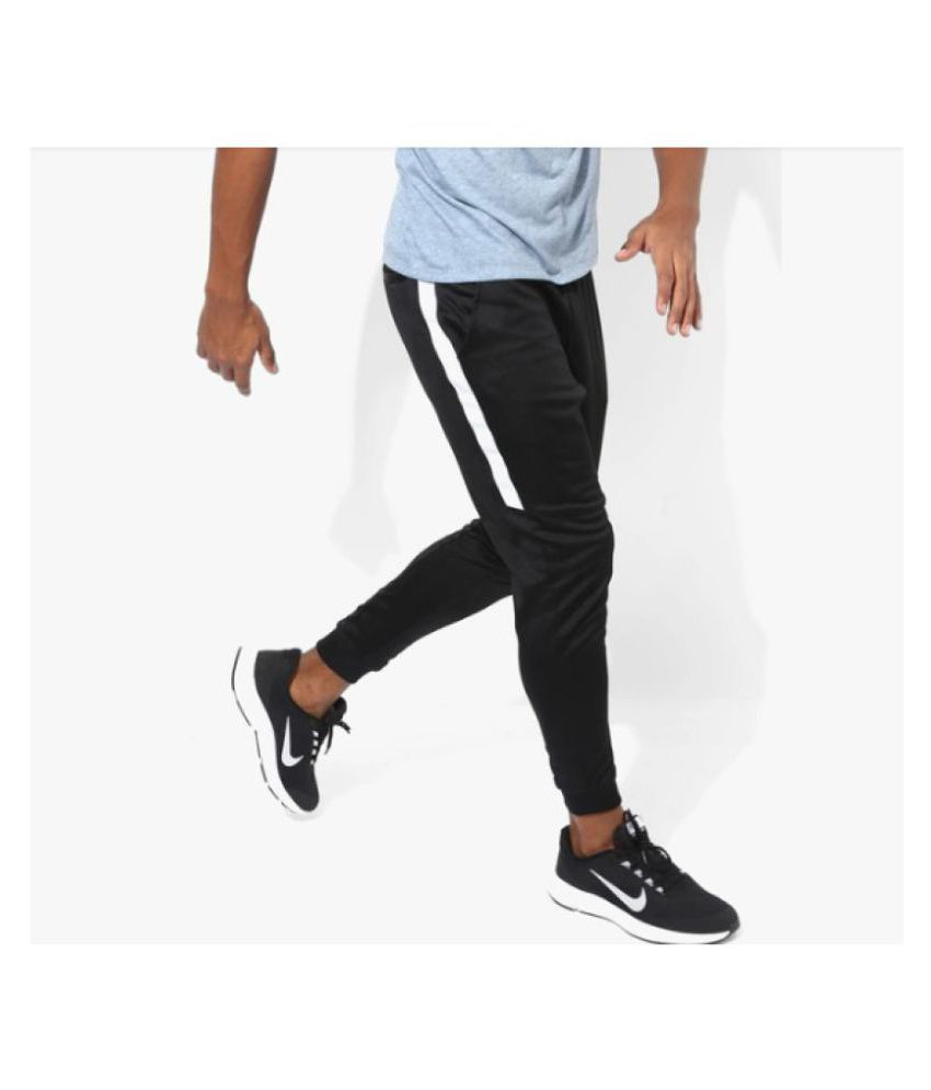 ff55b46e8673c Nike Side Stripe Dry Fit Black Track Pants - Buy Nike Side Stripe Dry Fit  Black Track Pants Online at Low Price in India - Snapdeal