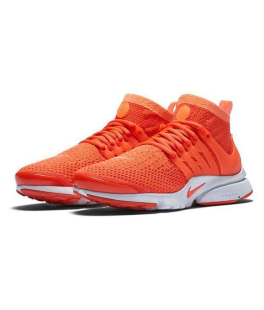 sports shoes acf46 ff4de Nike Air Presto Orange Running Shoes - Buy Nike Air Presto Orange Running  Shoes Online at Best Prices in India on Snapdeal