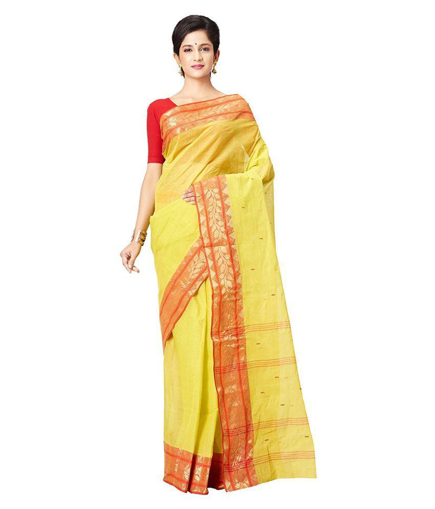 Slice of Bengal Yellow Cotton Saree
