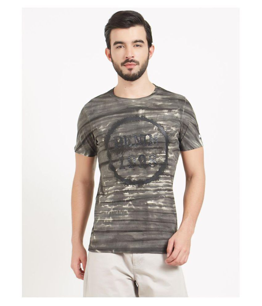 BONATY Grey Round T-Shirt Pack of 1