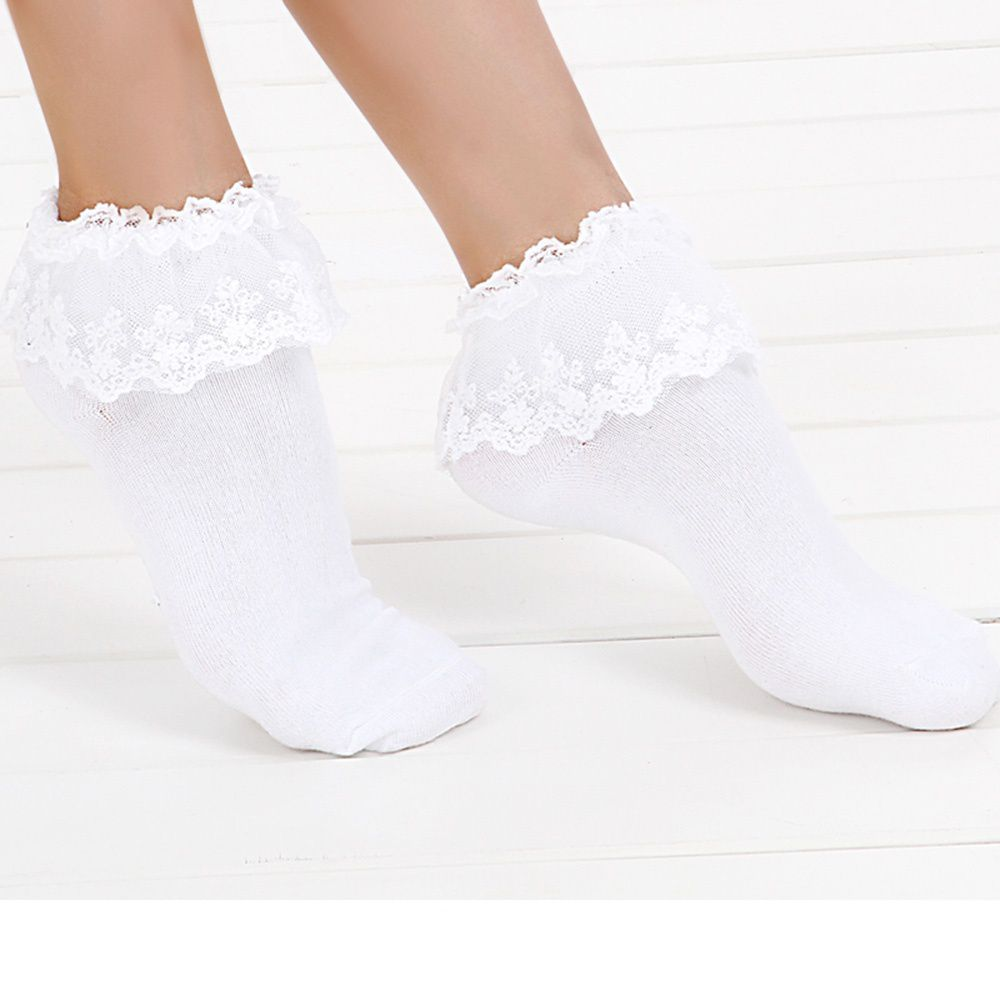 Brand Princess Ankle Girl Vintage Socks Lace Sweet Cute Ruffle Frilly