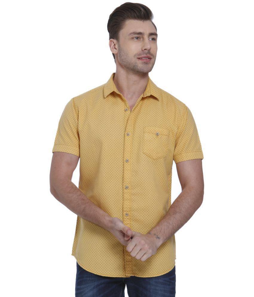 Mufti Yellow Slim Fit Shirt