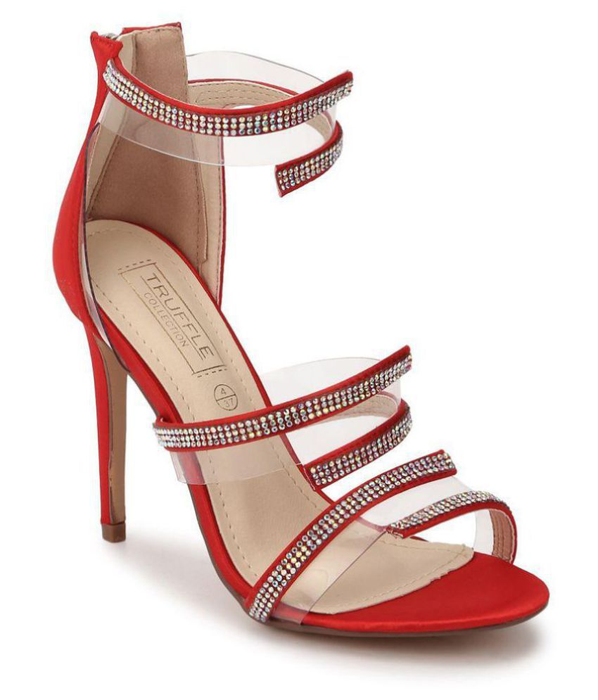 Truffle Collection Red Stiletto Heels