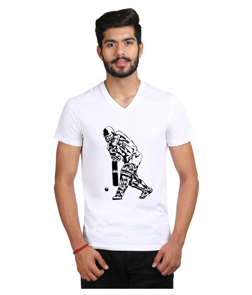 snoby White V-Neck T-Shirt Pack of 1
