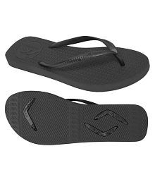 Boomerangz Slim Fit (Women's) Black Black Thong Flip Flop