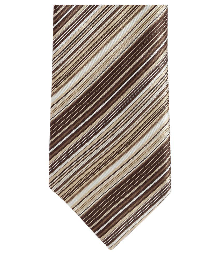 Alvaro Castagnino Brown Stripes Micro Fiber Necktie