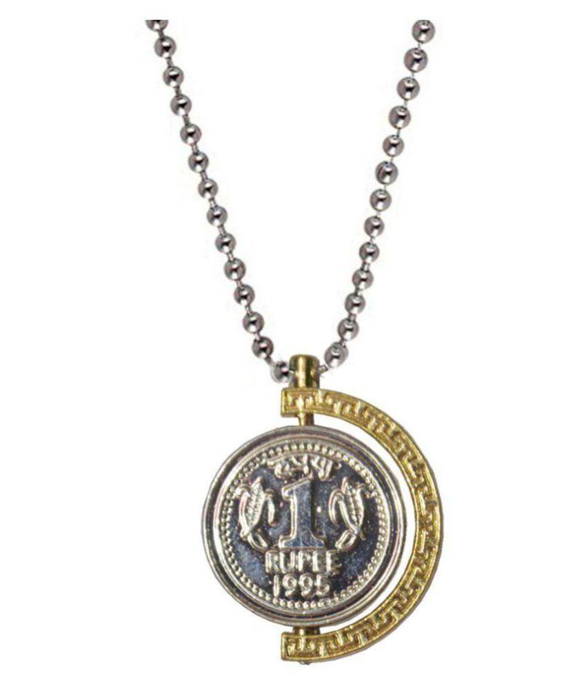 Shiv Jagdamba Rupees Symbol Anjaan Locket Gold And Silver Alloy