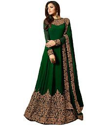 072671d3a9314 Quick View. Krishna Tex Green and Brown Georgette Anarkali Semi-Stitched  Suit