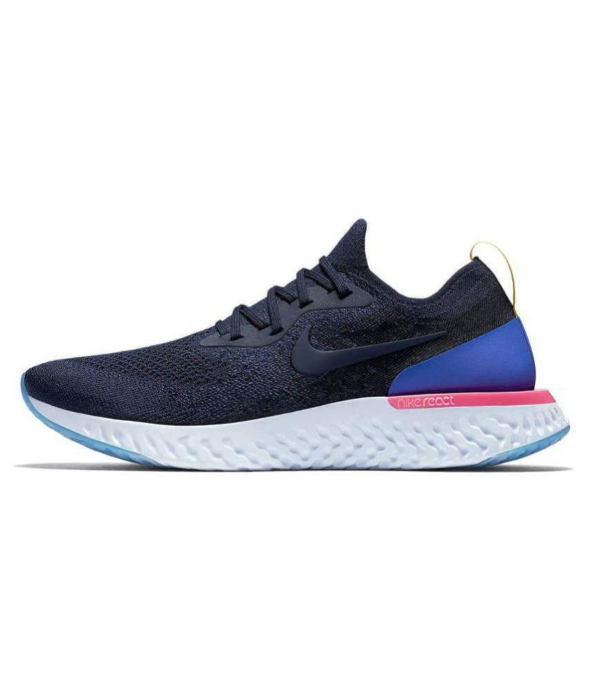 ef996ffd5cbe Nike Epic React Flyknit Black Running Shoes - Buy Nike Epic React Flyknit  Black Running Shoes Online at Best Prices in India on Snapdeal