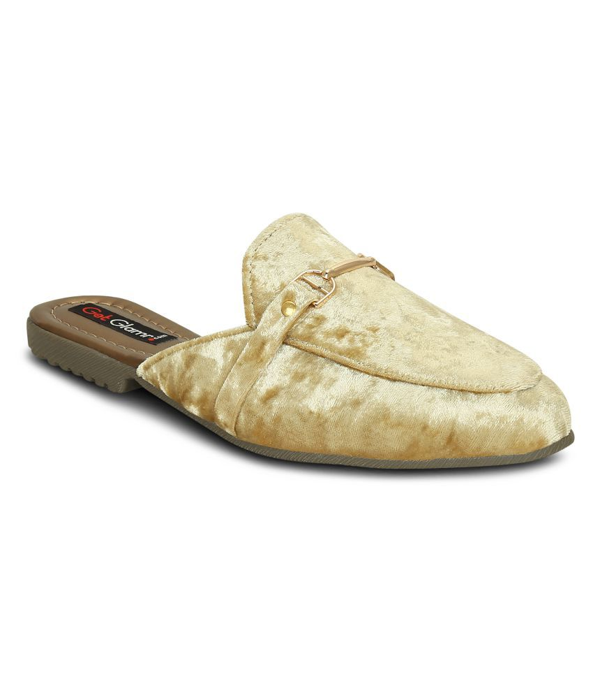 Get Glamr Gold Casual Shoes