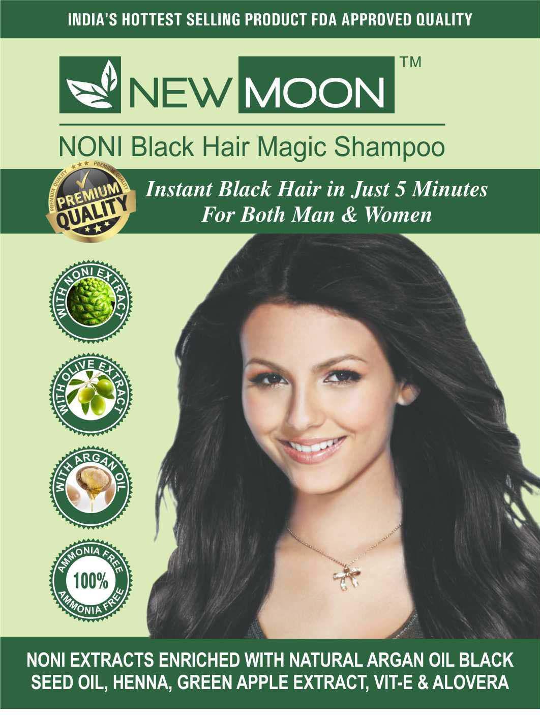 New Moon Hair Dye For Man No Ammonia Permanent Hair Color