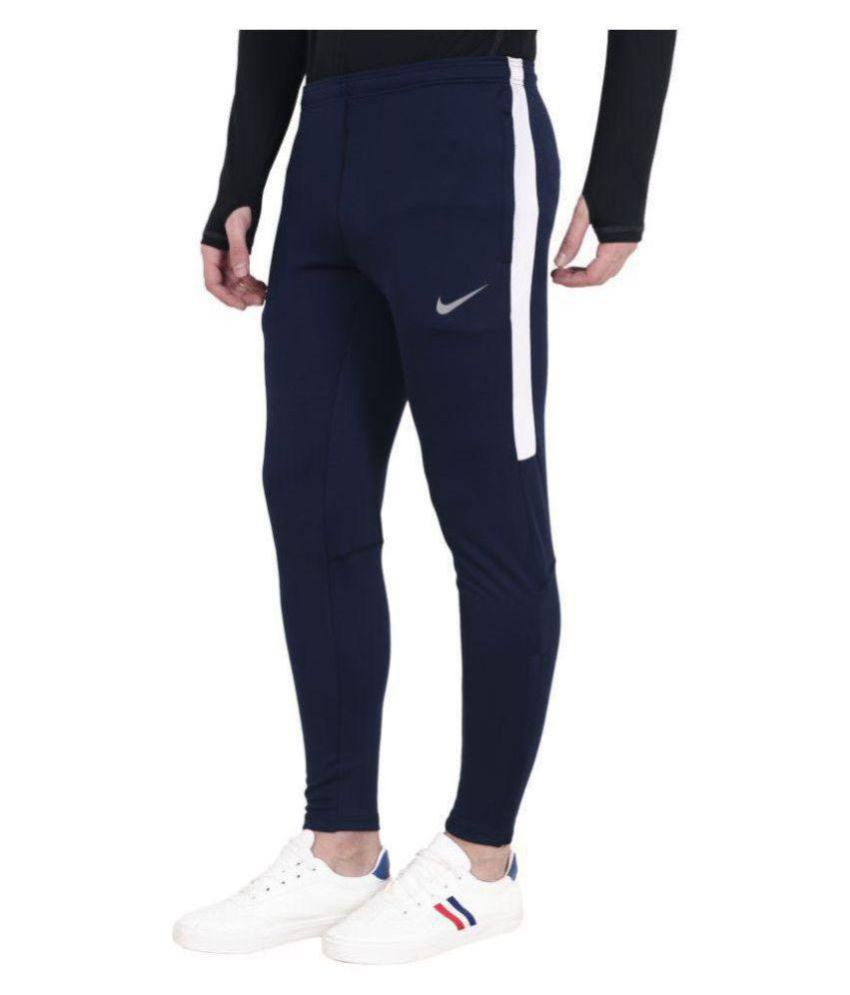 Nike Blue Polyester Lycra Stylish Trackpant