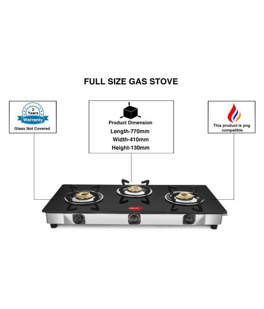 Pigeon Blackline Sterling Full Size 3 Burner Manual Gas Stove