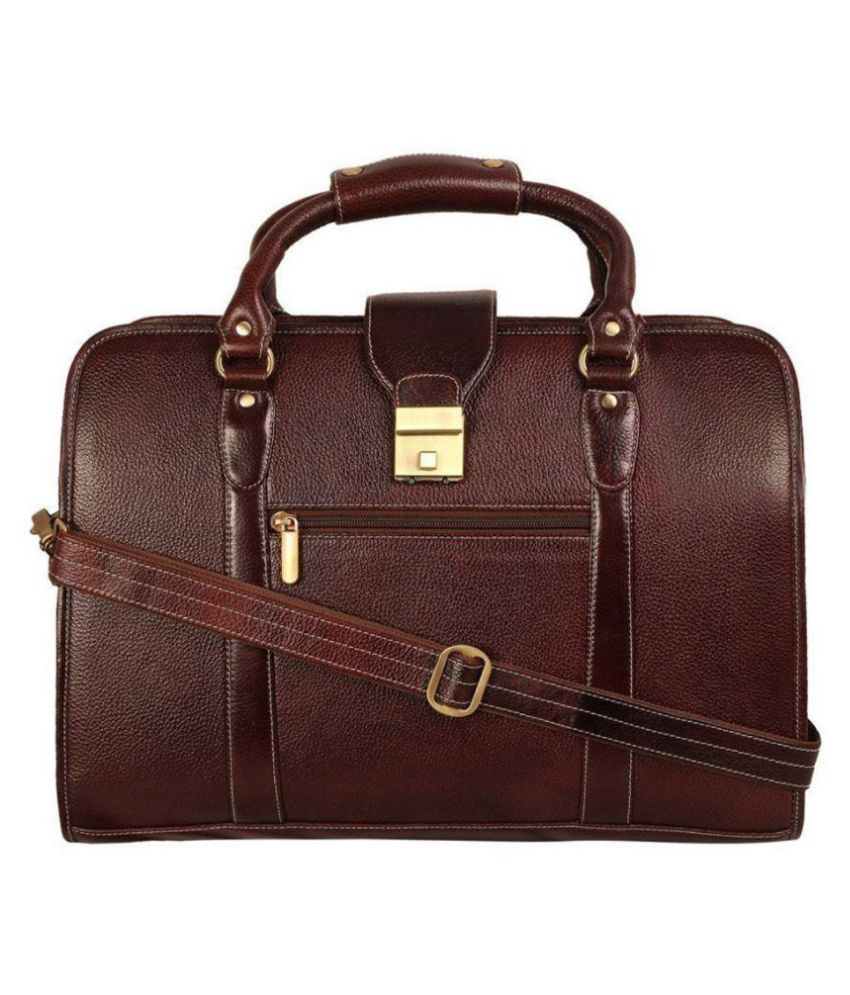 Reo Leather SL1 Brown Leather Office Bag