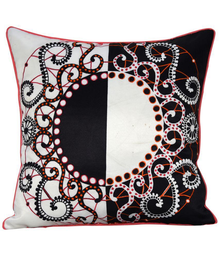 Sadyaska Single Polyester Cushion Covers 40X40 cm (16X16)