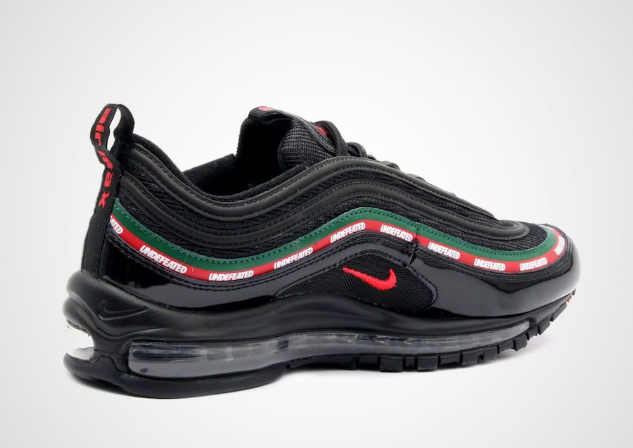 premium selection 44aff 89cbb Nike Air Max 97 UNDEFEATED Black Running Shoes