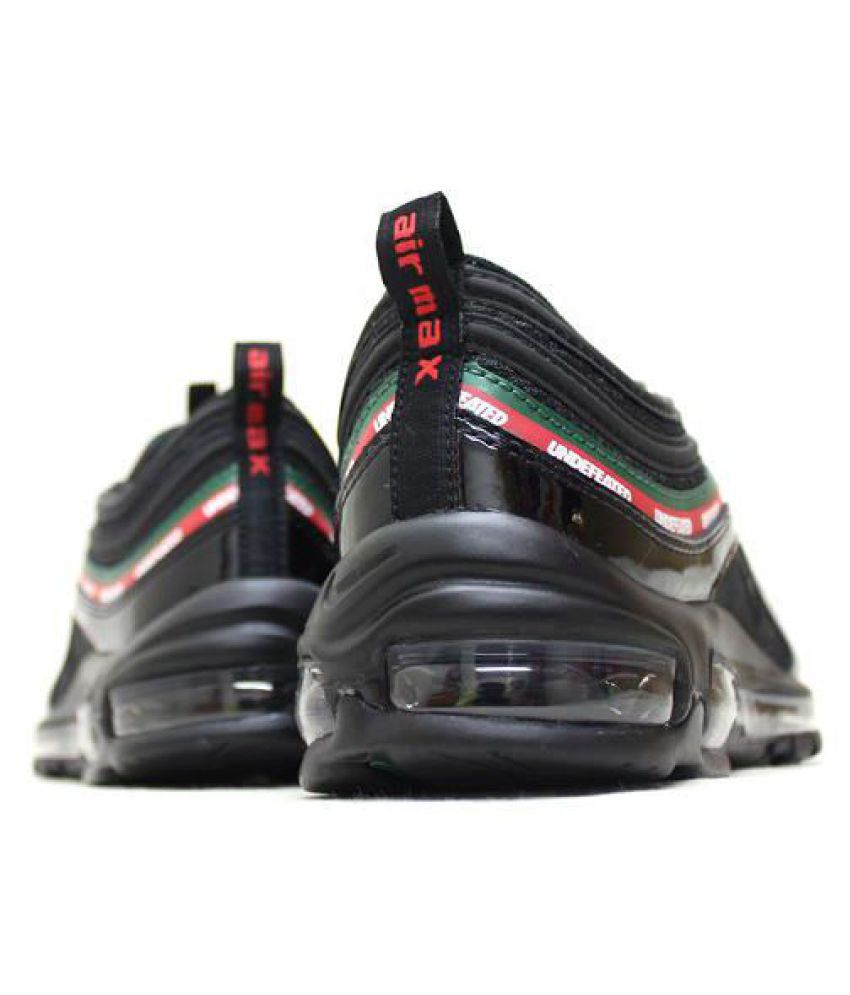 premium selection 5a87c b753a Nike Air Max 97 UNDEFEATED Black Running Shoes