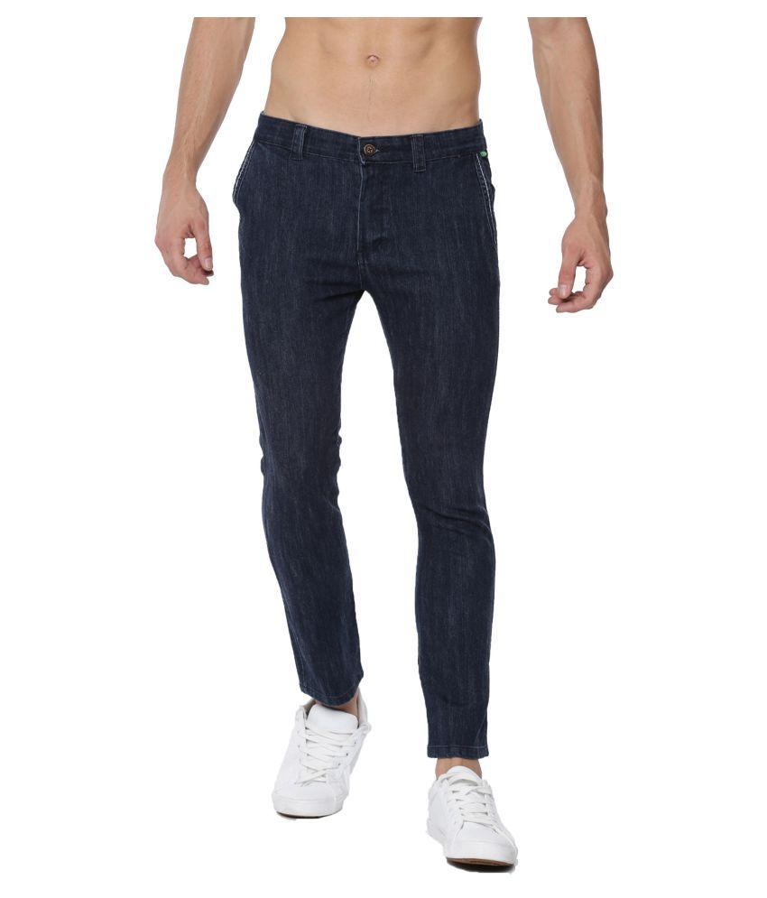 Sports 52 Wear Blue Regular -Fit Flat Trousers
