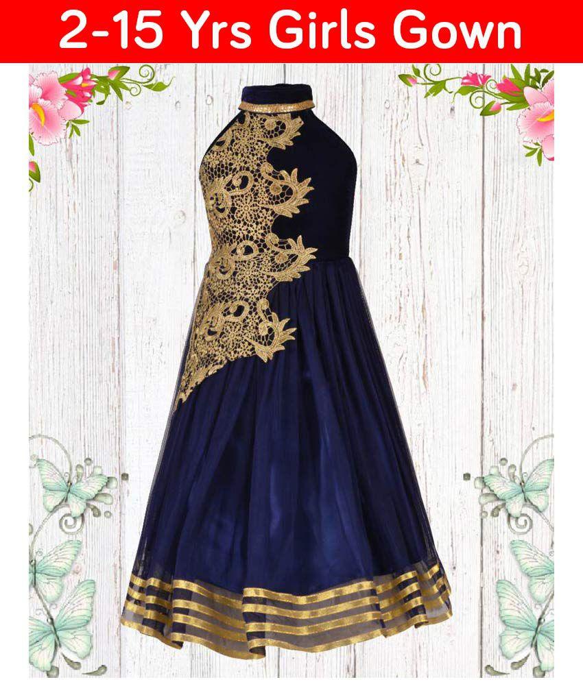 9f92ee066f13 Aarika Girl s Designer Party Wear Gown With Halter Neck - Buy Aarika ...