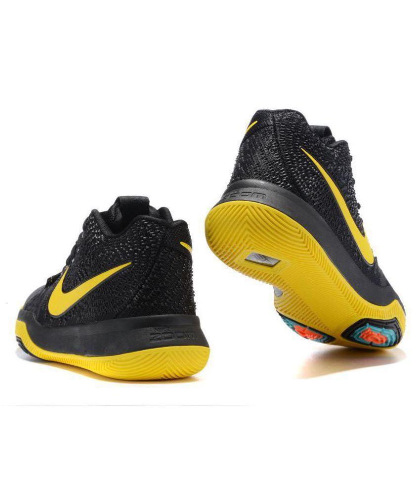 quality design a4c20 e341f Nike NBA KYRIE IRVING 3 Black Basketball Shoes