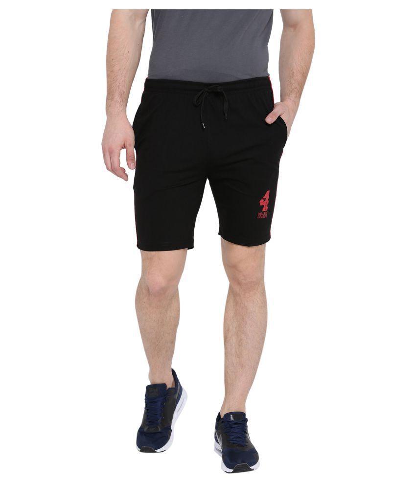 Duke Black Shorts