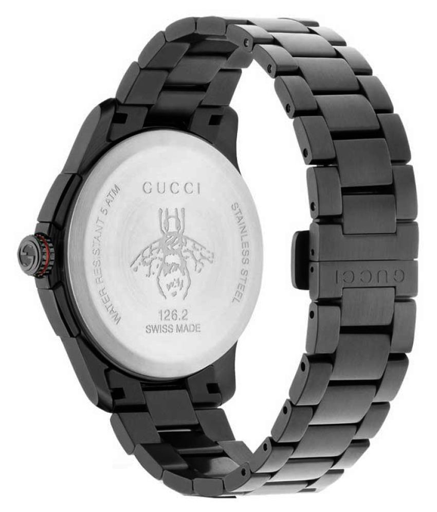 e7c17ed0890 ... Gucci G-timeless Chronograph XL Black Dial stainless steel Men s Watch  YA126268