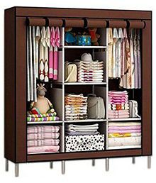 Quick View. Multipurpose Collapsible and portable triple door Foldable Wardrobe/Cloth ...