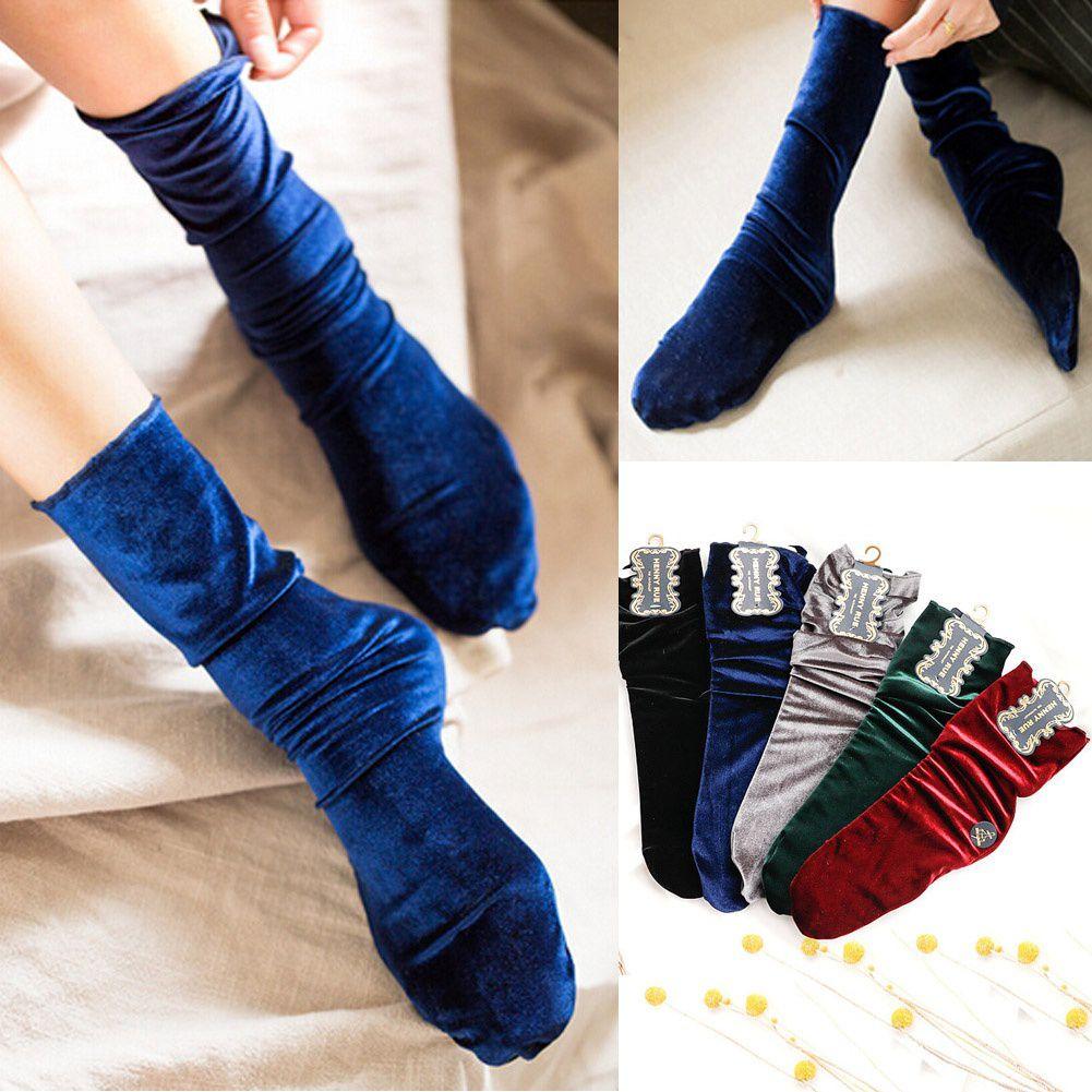 3 Color Autumn Winter Women's Fashion Filar Velvet Socks Comfortable Soft Silk Stockings Female Cute Stocking Warm Long Socks
